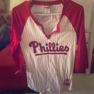 Victoria's Secret PINK Phillies Baseball Tee